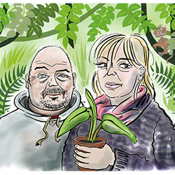 Dominic and Yvonne - plants